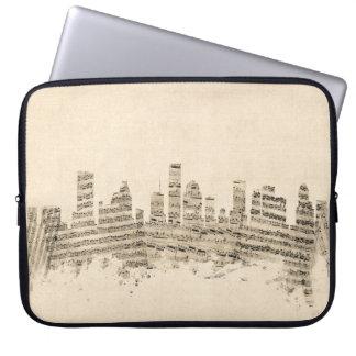 Houston Texas Skyline Sheet Music Cityscape Laptop Sleeve