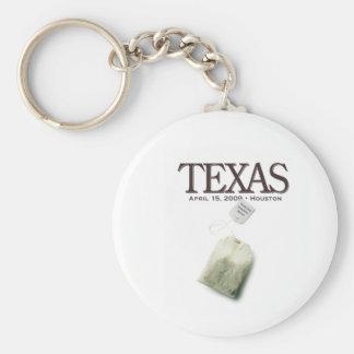 Houston Texas Tea Party Keychain