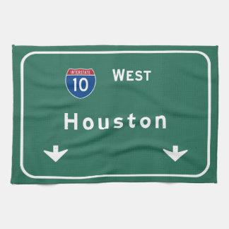 Houston Texas tx Interstate Highway Freeway Road : Hand Towel