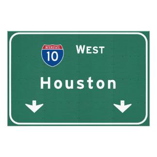 Houston Texas tx Interstate Highway Freeway Road : Photo Print