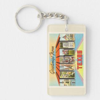 Houston Texas TX Old Vintage Travel Souvenir Keychain