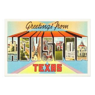 Houston Texas TX Old Vintage Travel Souvenir Photo Print