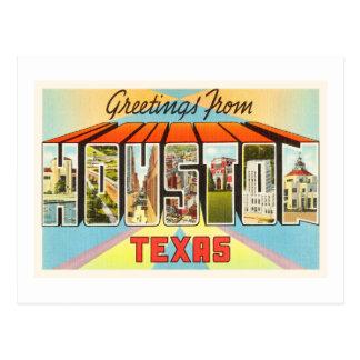 Houston Texas TX Old Vintage Travel Souvenir Postcard