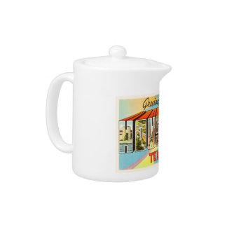Houston Texas TX Old Vintage Travel Souvenir Teapot