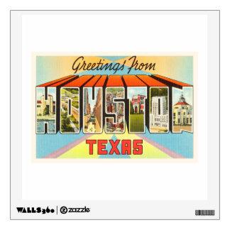Houston Texas TX Old Vintage Travel Souvenir Wall Sticker