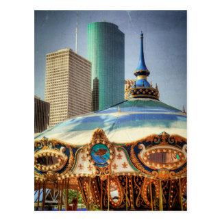 Houston Towers and Fairground Rides Postcard