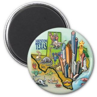 Houston TX 2 Inch Round Magnet