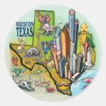 Houston TX Classic Round Sticker