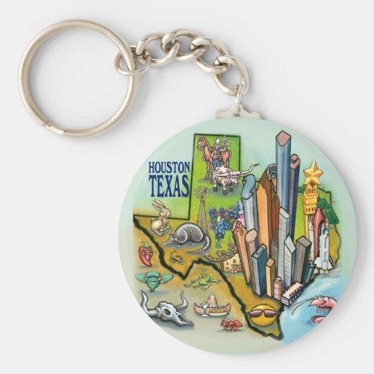 Houston TX Keychain