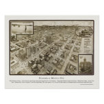 Houston, TX Panoramic Map - 1912 Posters