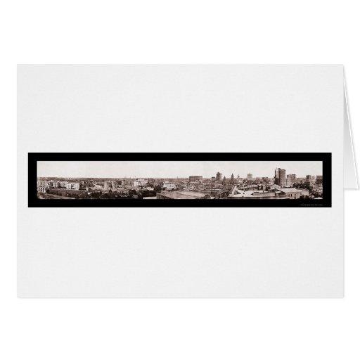 Houston TX Panoramic Photo 1913 Greeting Card