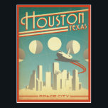 "Houston, TX Postcard<br><div class=""desc"">Anderson Design Group is an award-winning illustration and design firm in Nashville,  Tennessee. Founder Joel Anderson directs a team of talented artists to create original poster art that looks like classic vintage advertising prints from the 1920s to the 1960s.</div>"