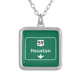 Houston, TX Road Sign Necklaces