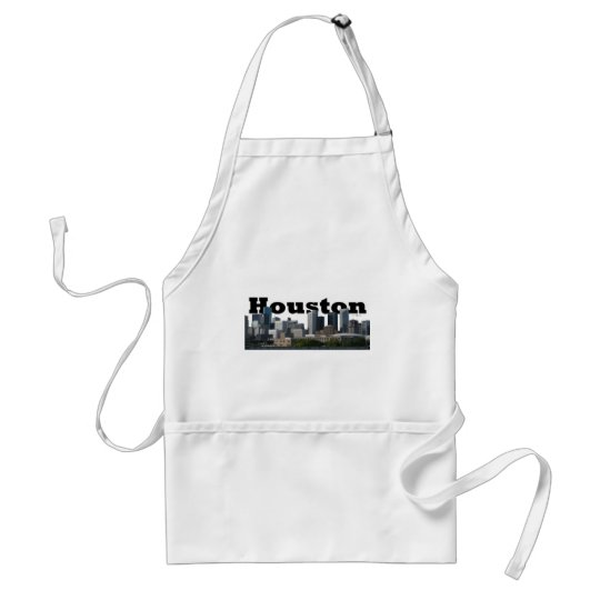 Houston, TX Skyline with Houston in the Sky Adult Apron