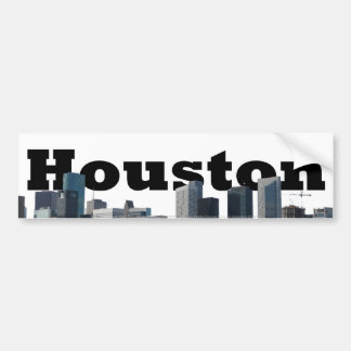 Houston, TX Skyline with Houston in the Sky Bumper Sticker