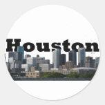 Houston, TX Skyline with Houston in the Sky Classic Round Sticker