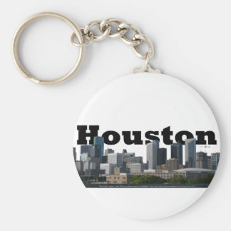 Houston, TX Skyline with Houston in the Sky Keychain