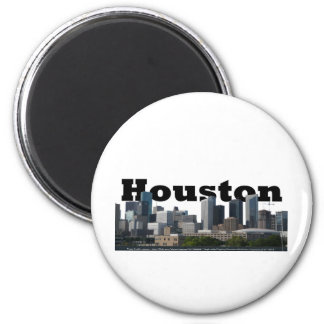 Houston, TX Skyline with Houston in the Sky Magnet