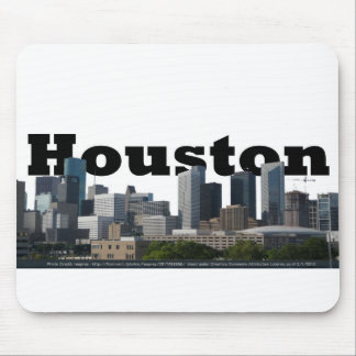 Houston, TX Skyline with Houston in the Sky Mouse Pad