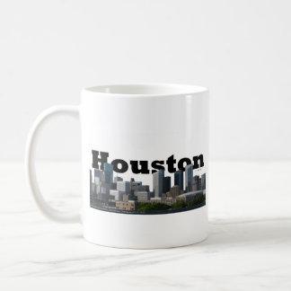 Houston, TX Skyline with Houston in the Sky Coffee Mugs