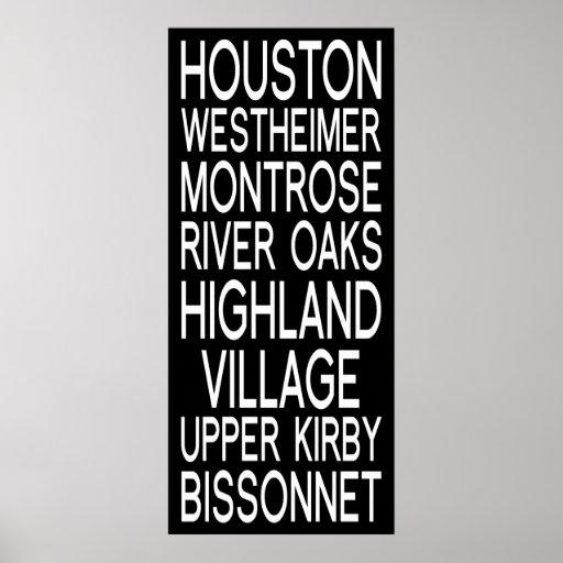 Houston | Typography Posters
