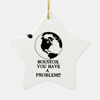 Houston usted tiene un problema - impresión adorno navideño de cerámica en forma de estrella