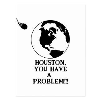 Houston usted tiene un problema - impresión postal