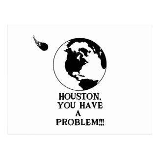 Houston usted tiene un problema - impresión postales
