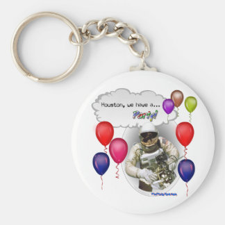 Houston, we have a PARTY! Keychain