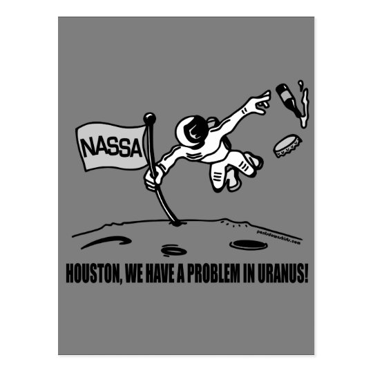 HOUSTON WE HAVE A PROBLEM POSTCARD