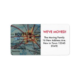 Houston We've Moved label