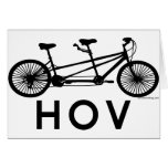 HOV Tandem Bicycle Greeting Cards
