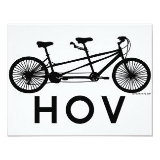 HOV Tandem Bicycle 4.25x5.5 Paper Invitation Card
