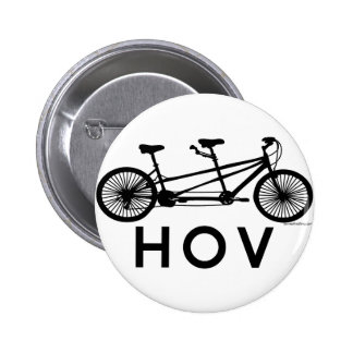 HOV Tandem Bicycle Pinback Button