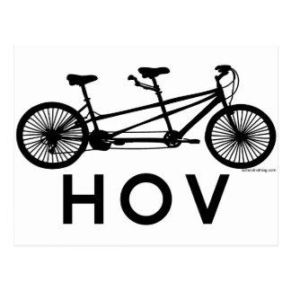 HOV Tandem Bicycle Postcard