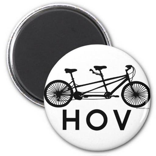 HOV Tandem Bicycle Refrigerator Magnets