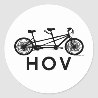 HOV Tandem Bicycle Stickers