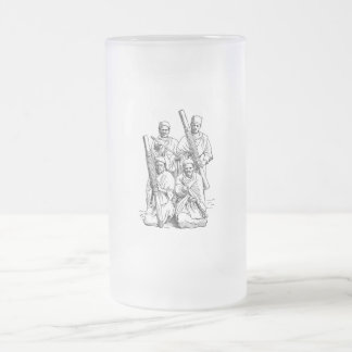 Hova Musicians Frosted Glass Beer Mug