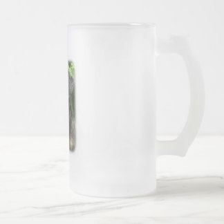 Hovawart 9W009D-107 Frosted Glass Beer Mug