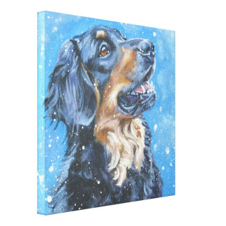 Hovawart Art Painting on Gallery Wrapped Canvas
