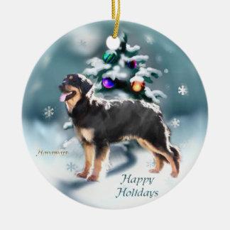 Hovawart Christmas Ceramic Ornament