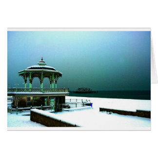 Hove Bandstand in Winter, Brighton Card