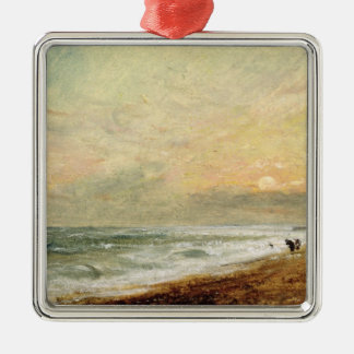 Hove Beach, c.1824 (oil on paper on panel) Metal Ornament