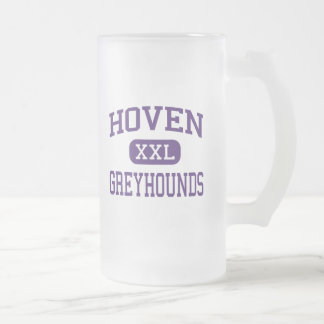 Hoven - Greyhounds - High - Hoven South Dakota Frosted Glass Beer Mug