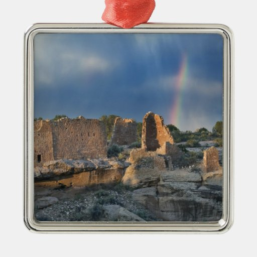 Hovenweep Castle, Hovenweep National Monument, Square Metal Christmas Ornament