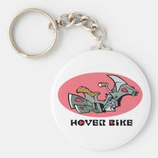 Hover Bike Basic Round Button Keychain