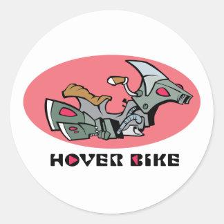 Hover Bike Classic Round Sticker