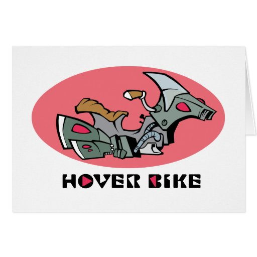 Hover Bike Greeting Cards