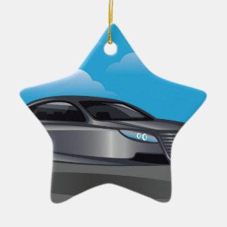 Hover Car vector Ceramic Ornament
