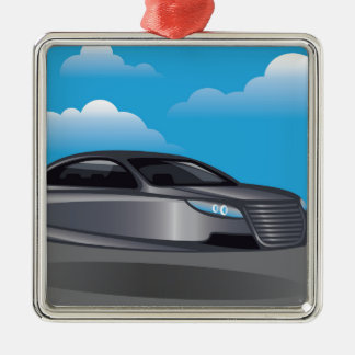 Hover Car vector Metal Ornament